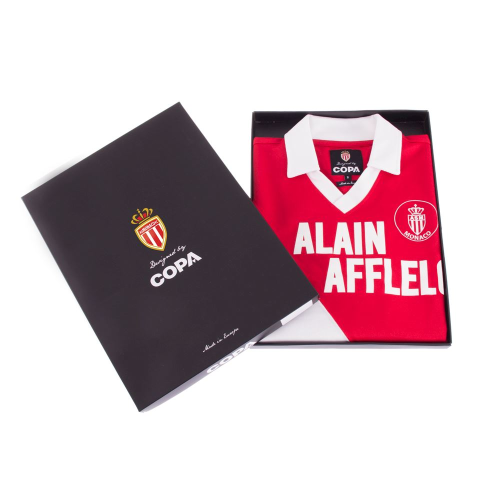 AS Monaco 1987 - 88 Retro Football Shirt   6   COPA