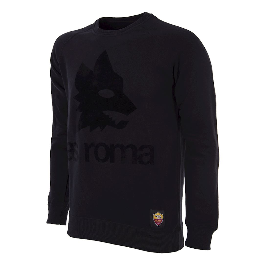 AS Roma Black Out Retro Logo Sweater | 1 | COPA