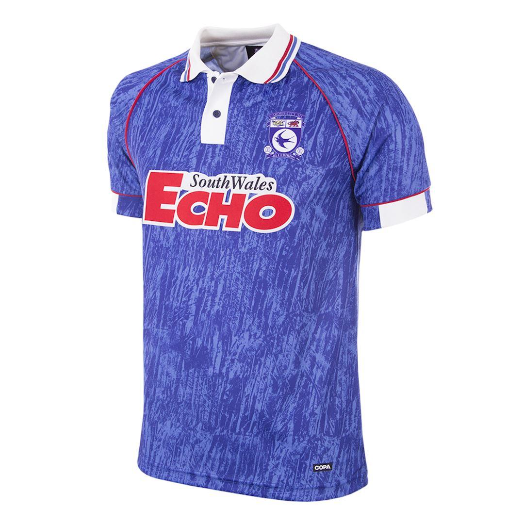 Cardiff City FC 1993 Retro Football Shirt | 1 | COPA