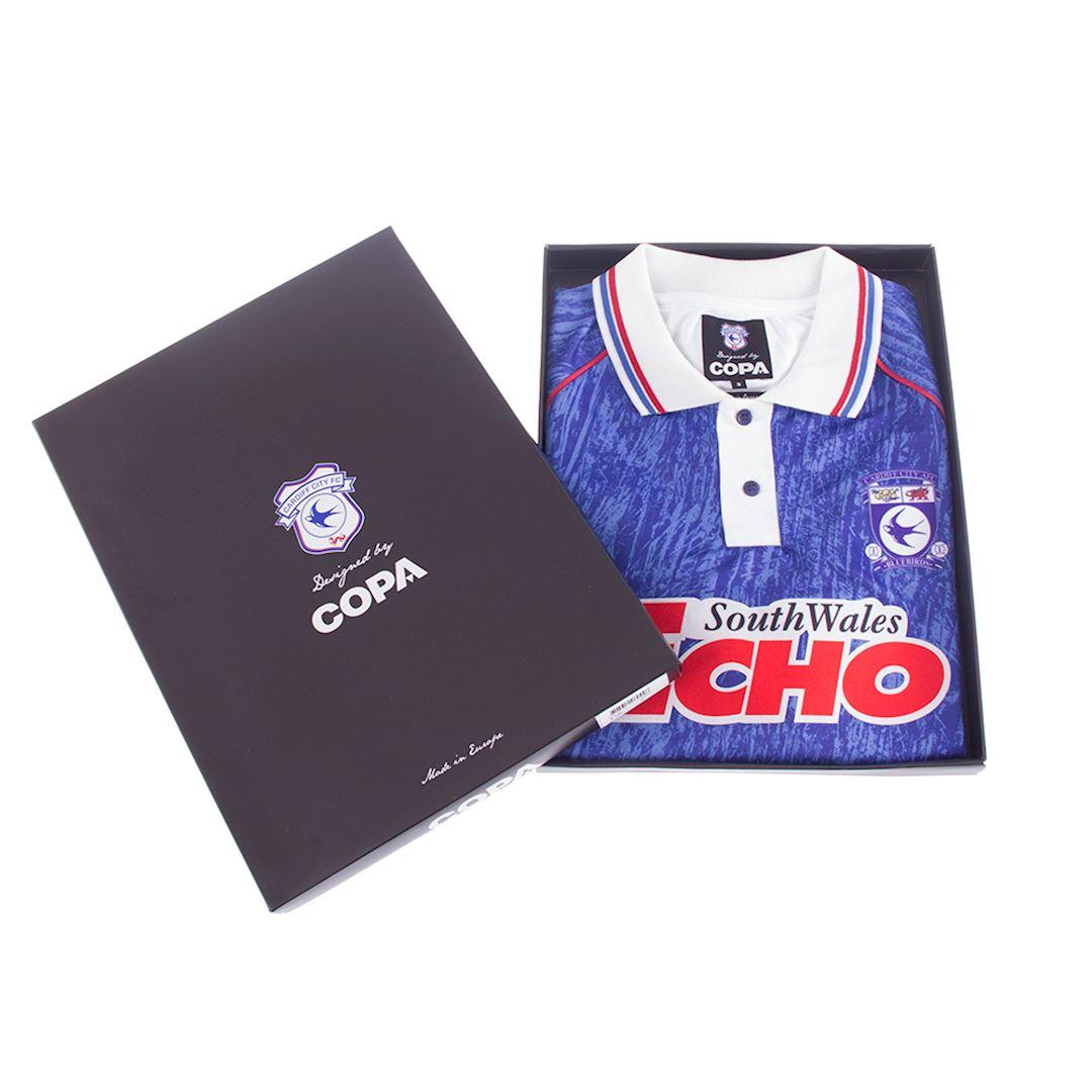 Cardiff City FC 1993 Retro Football Shirt | 6 | COPA