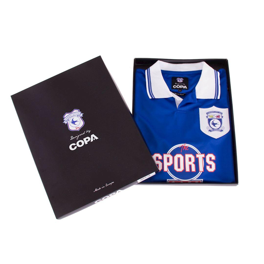 Cardiff City FC 1998 - 99 Retro Football Shirt | 6 | COPA
