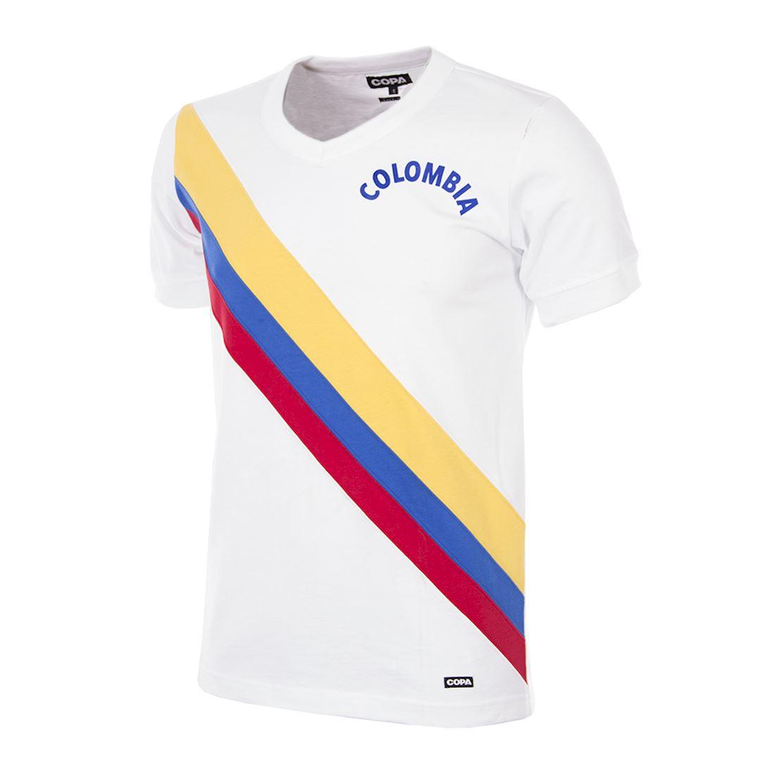 Colombia 1973 Retro Football Shirt   1   COPA