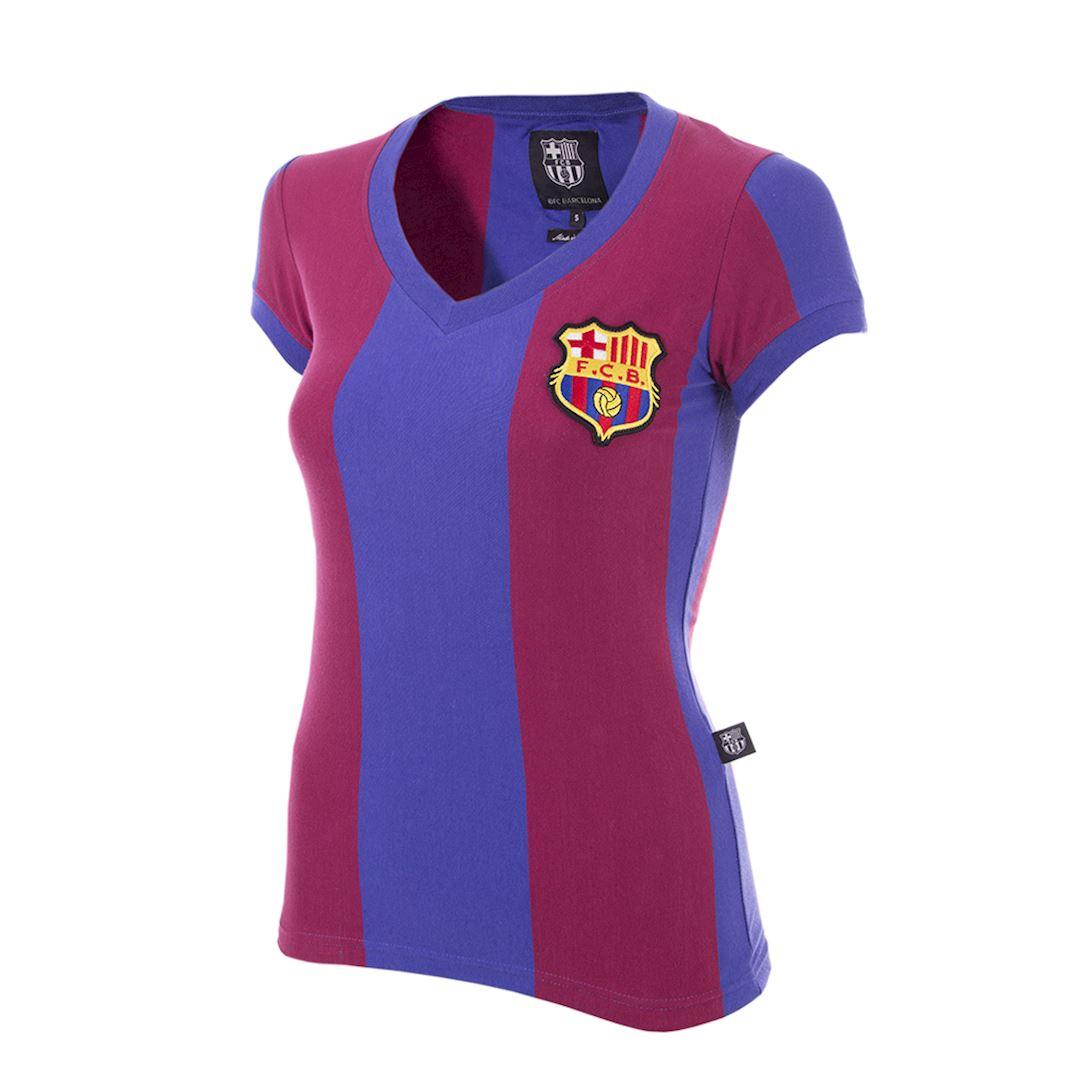 FC Barcelona 1976 - 77 Womens Camiseta de Fútbol Retro | 1 | COPA