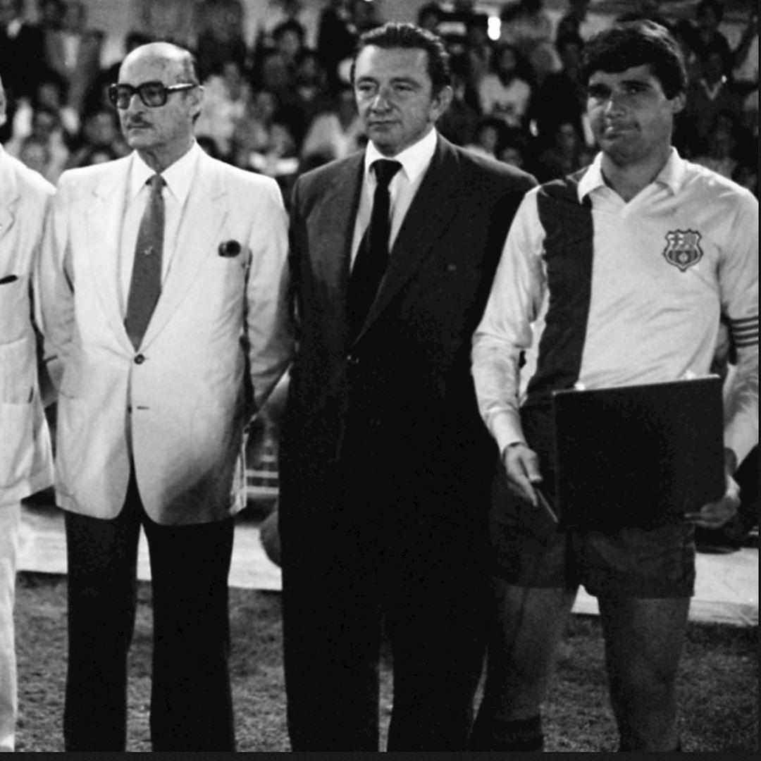 FC Barcelona 1981 - 82 Away Retro Football Shirt   2   COPA