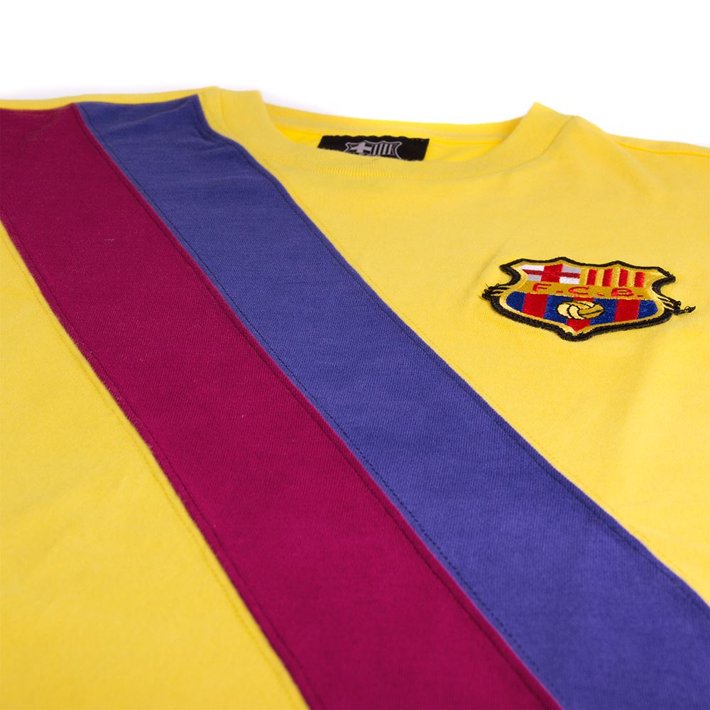 3d9781614 Shop FC Barcelona Away 1974 - 75 Long Sleeve Retro Football Shirt ...