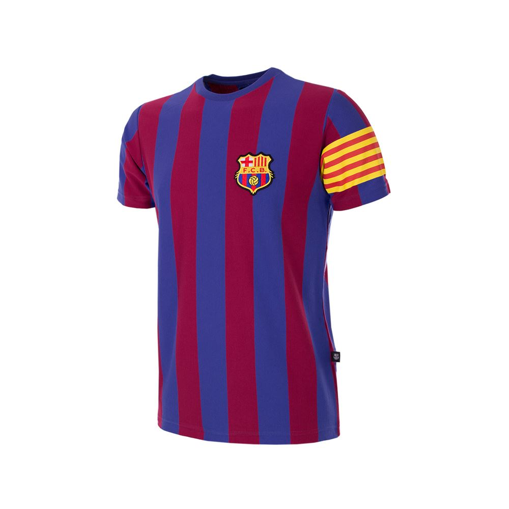 shop fc barcelona captain retro kids t shirt 6853 buy online copa. Black Bedroom Furniture Sets. Home Design Ideas