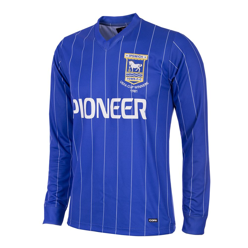 Ipswich Town FC 1981 - 82 Retro Voetbal Shirt | 1 | COPA