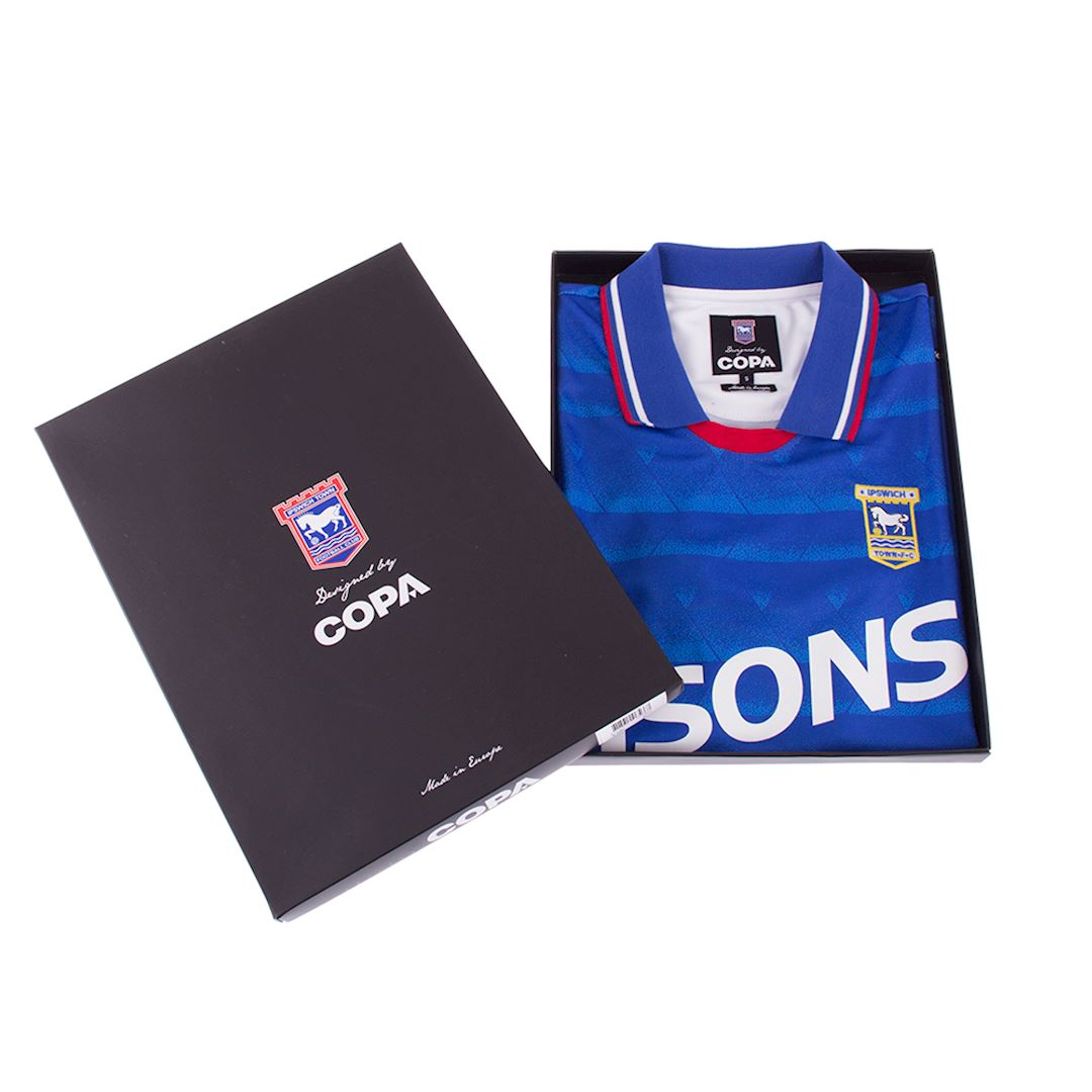Ipswich Town FC 1991 - 92 Retro Voetbal Shirt | 7 | COPA