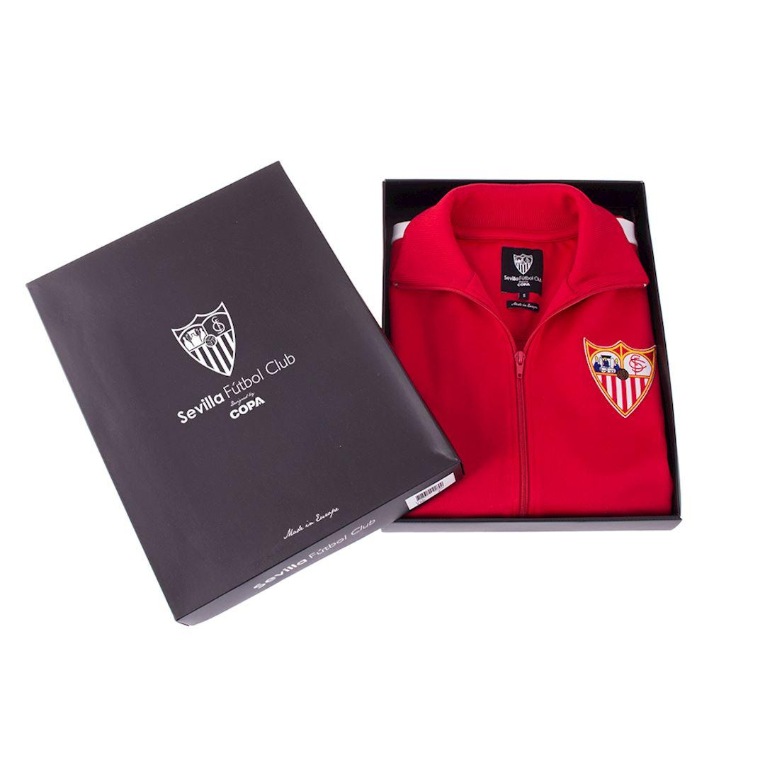 Sevilla FC 1970 - 71 Retro Football Jacket   6   COPA