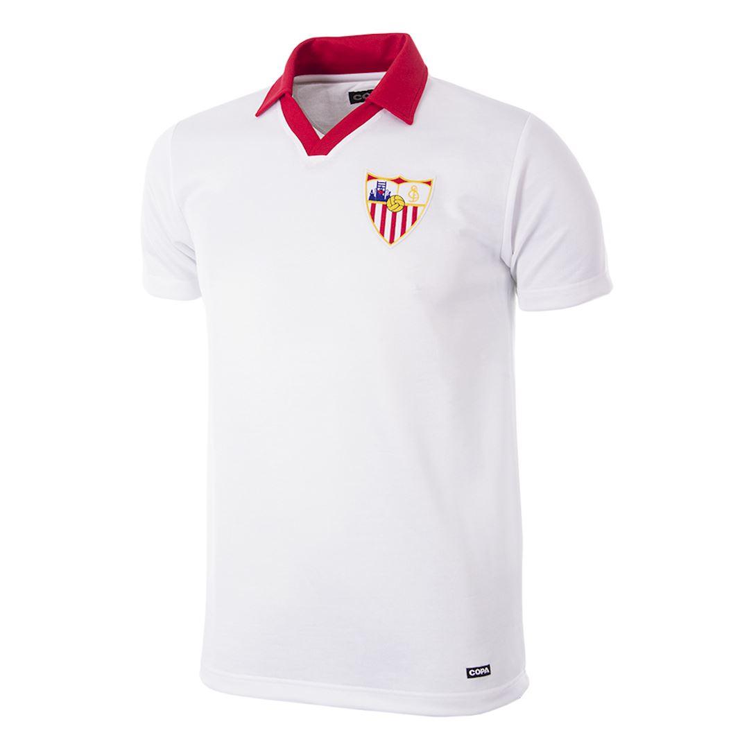 Sevilla FC 1980 - 81 Retro Football Shirt   1   COPA
