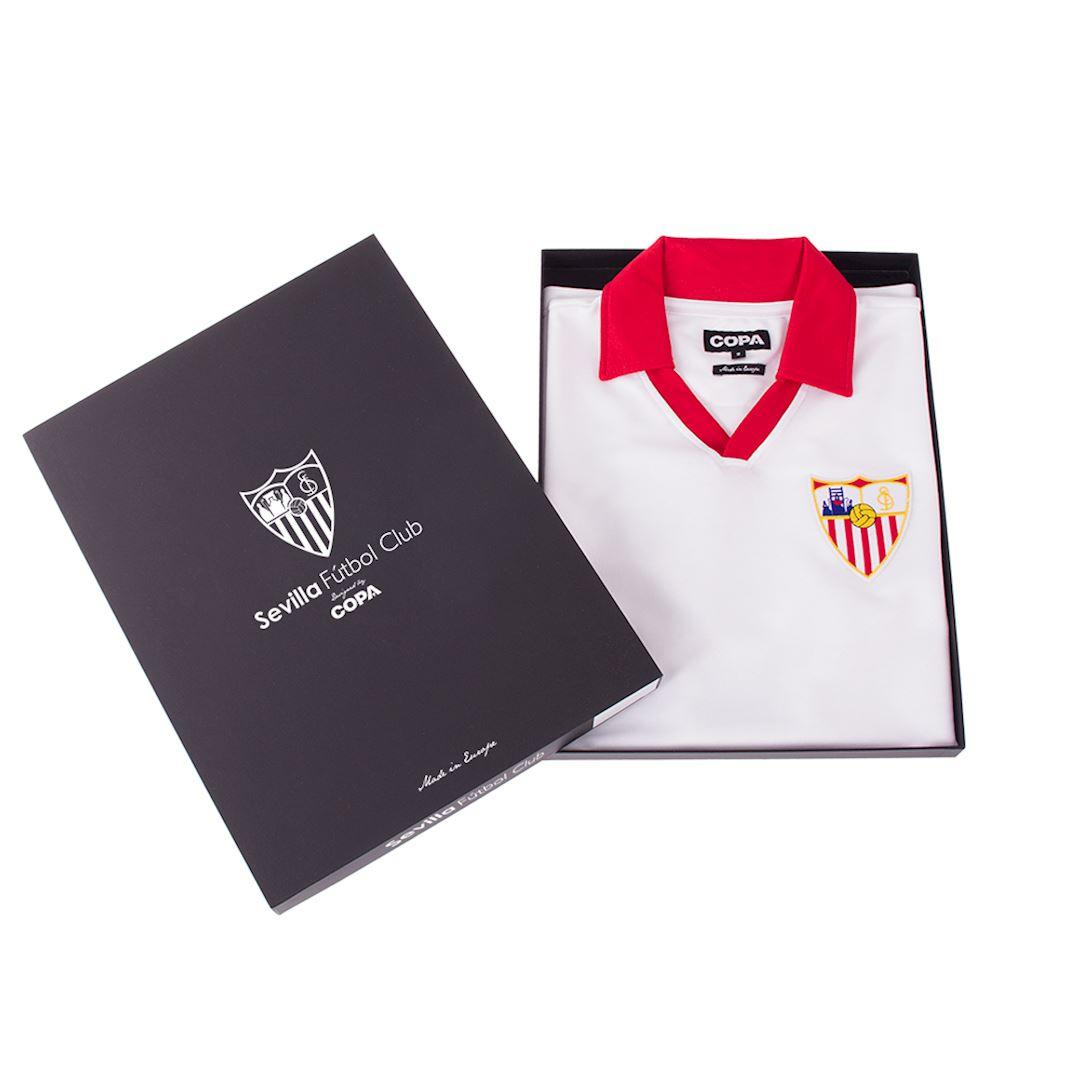 Sevilla FC 1980 - 81 Retro Football Shirt   6   COPA