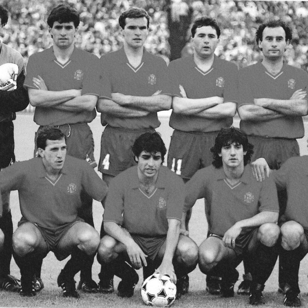 Spain 1988 Retro Football Shirt   2   COPA
