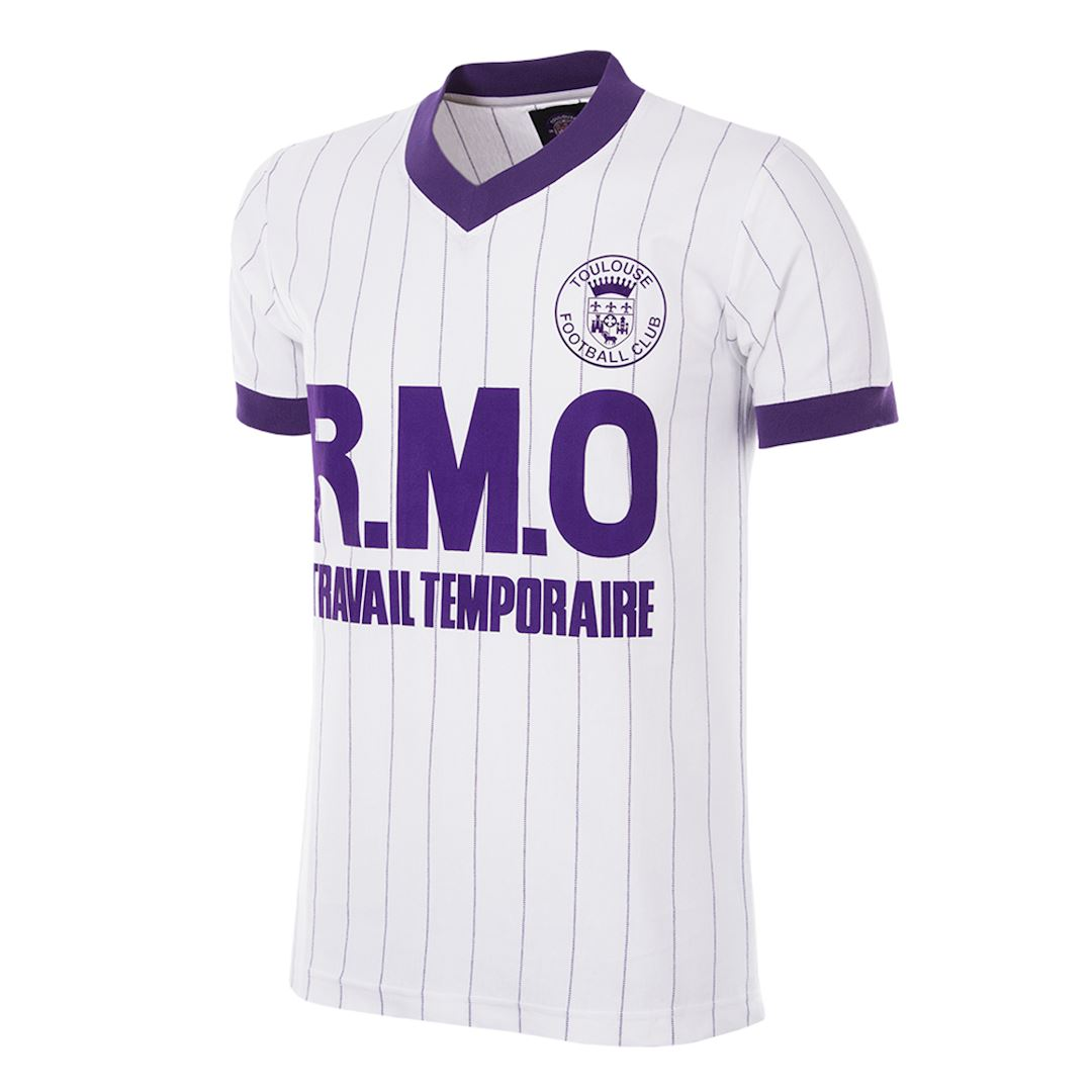 Toulouse FC 1983 - 84 Away Retro Football Shirt   1   COPA