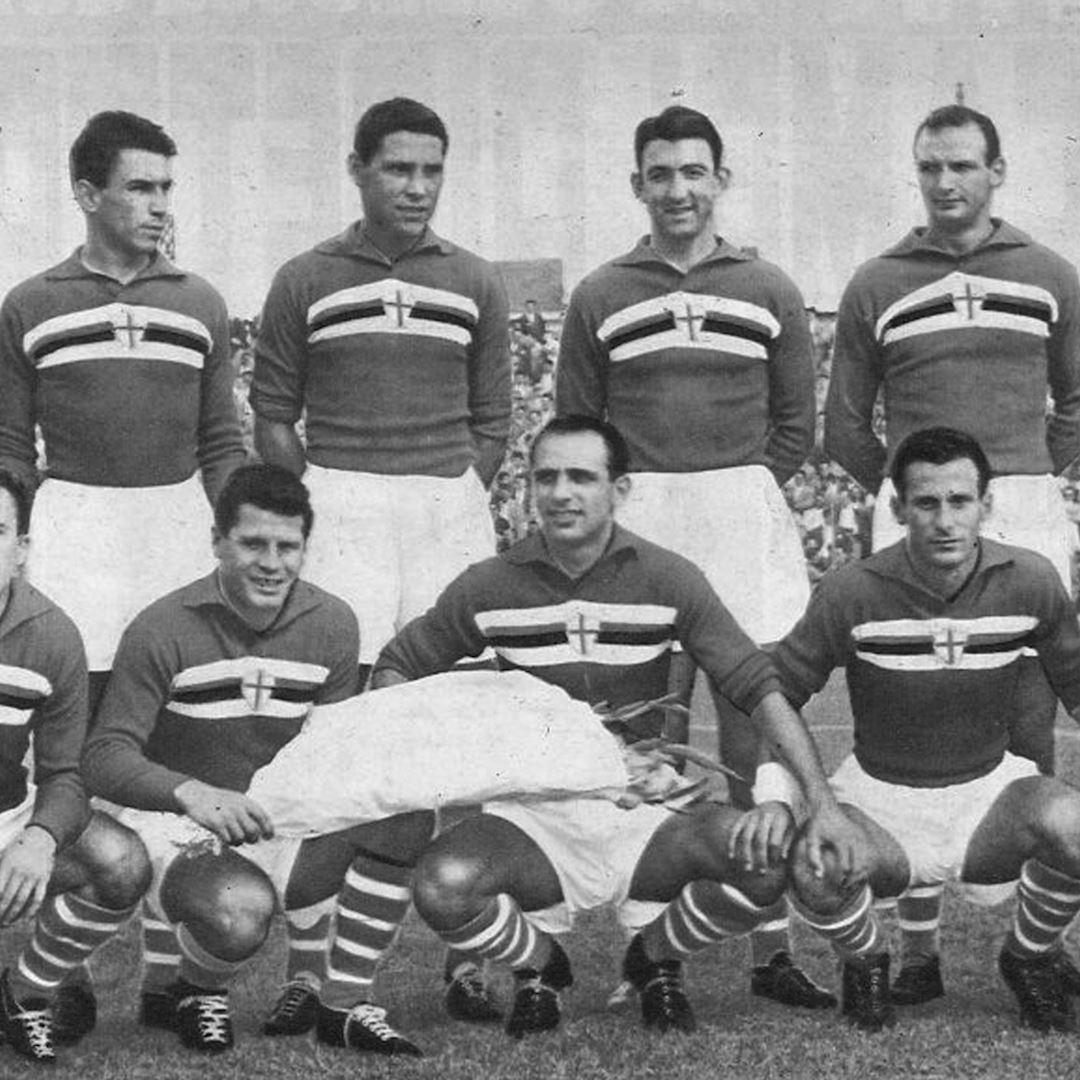 U. C. Sampdoria 1956 - 57 Retro Football Shirt | 2 | COPA