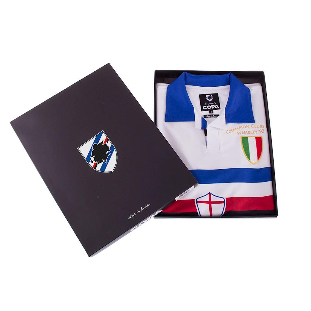 U. C. Sampdoria 1991 - 92 Away Retro Football Shirt | 6 | COPA