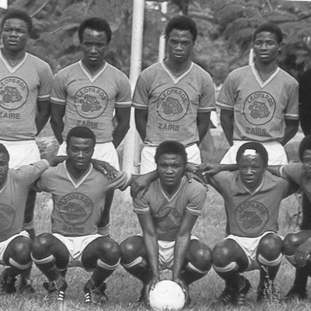 ff5b8e707e1 Shop Zaire World Cup 1974 Qualification Retro Football Shirt