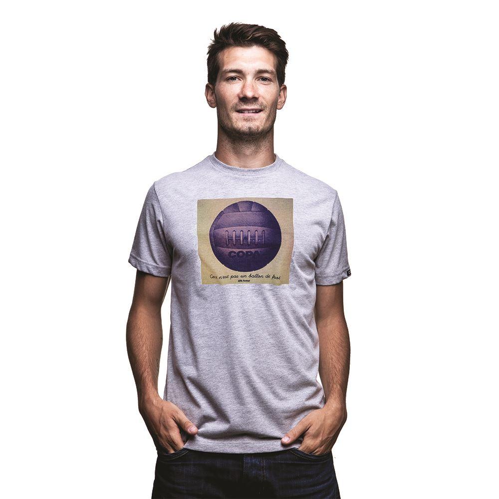 shop ballon de foot t shirt grey m l e 6557 buy online copa. Black Bedroom Furniture Sets. Home Design Ideas