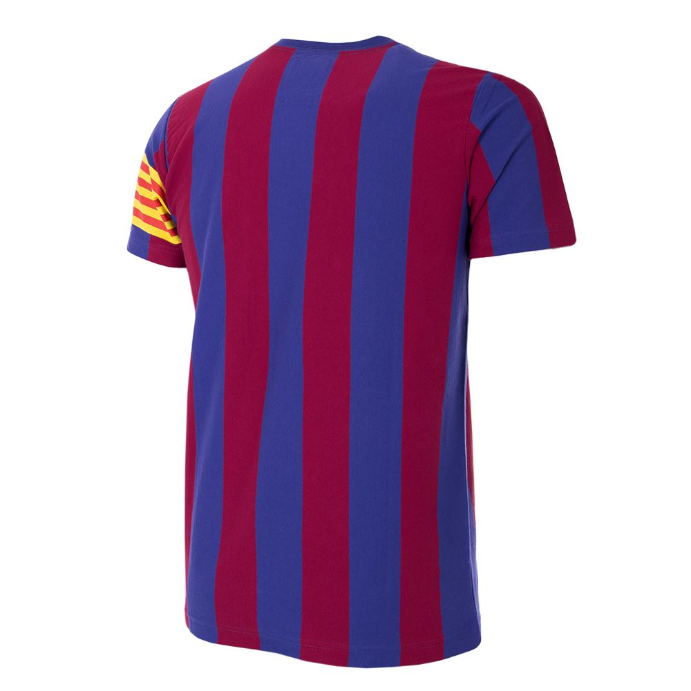 shop fc barcelona captain retro t shirt 6719 buy online copa. Black Bedroom Furniture Sets. Home Design Ideas