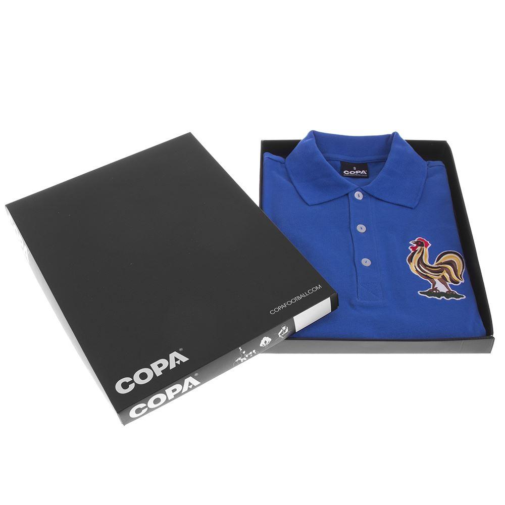 Frankrijk 1950's Retro Voetbal Shirt | 6 | COPA