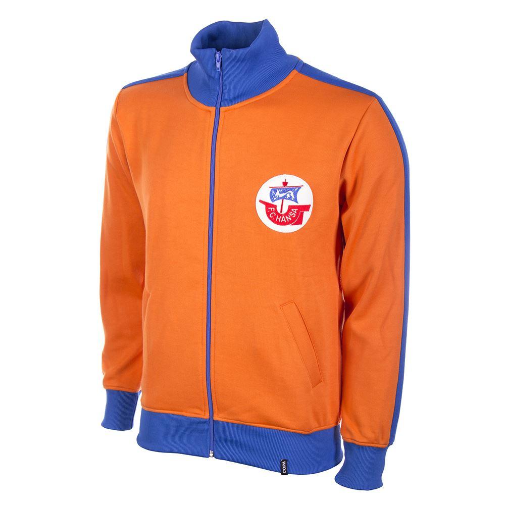 Shop Hansa Rostock 1980's Retro Football Jacket | 878 ...
