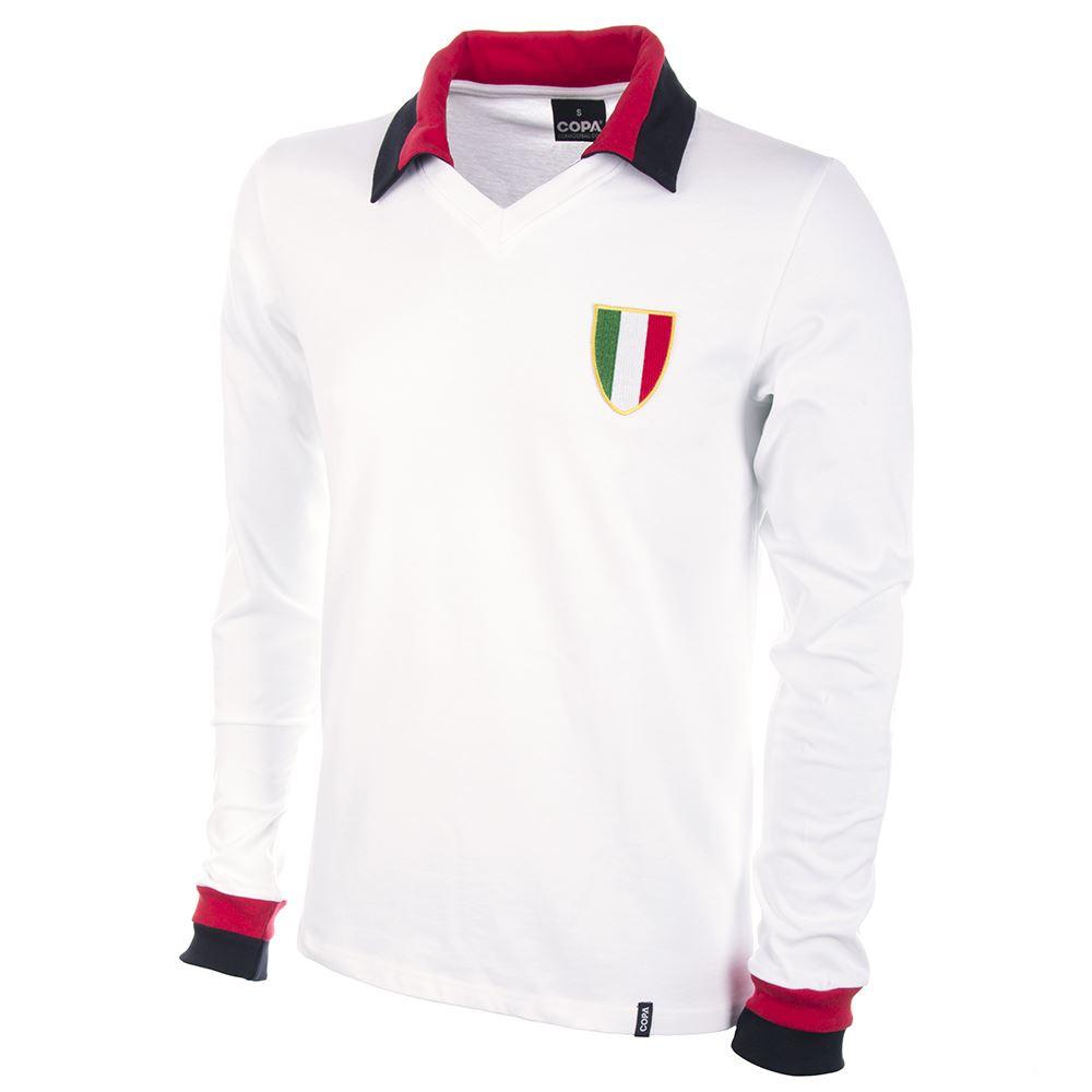 Shop Milan Away 1960's Long Sleeve Retro Football Shirt ...