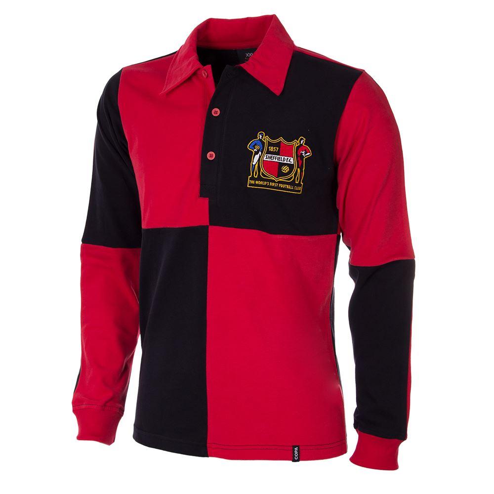 shop sheffield fc 1950s long sleeve retro football shirt