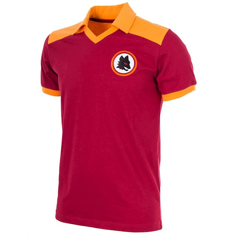 707 | AS Roma 1980 Maillot de Foot Rétro | 1 | COPA