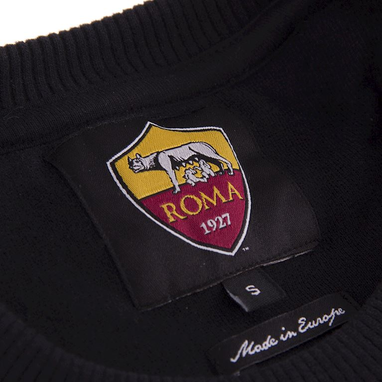 COPA Football AS Roma Retro Logo Sweater Black Out |Sportus.nl