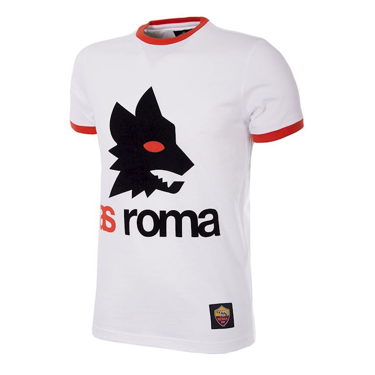 6733 | AS Roma Retro Logo T-Shirt | White | 1 | COPA