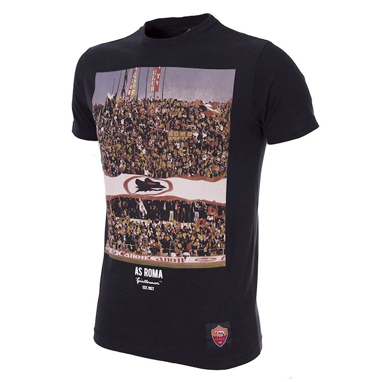 6721 | AS Roma Tifosi T-Shirt | Black | 1 | COPA