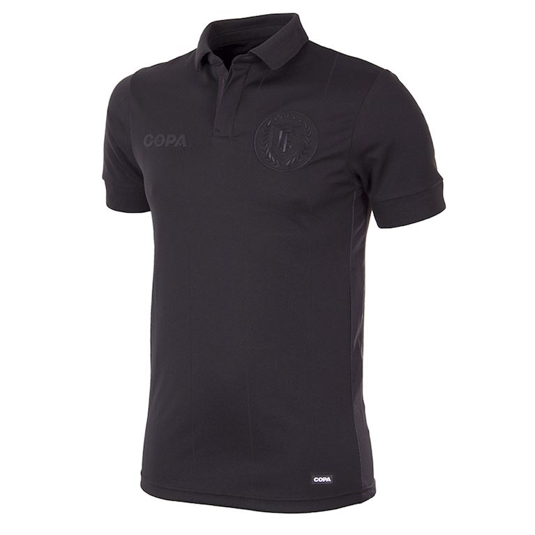 6738 | All Black Voetbal Shirt | 1 | COPA