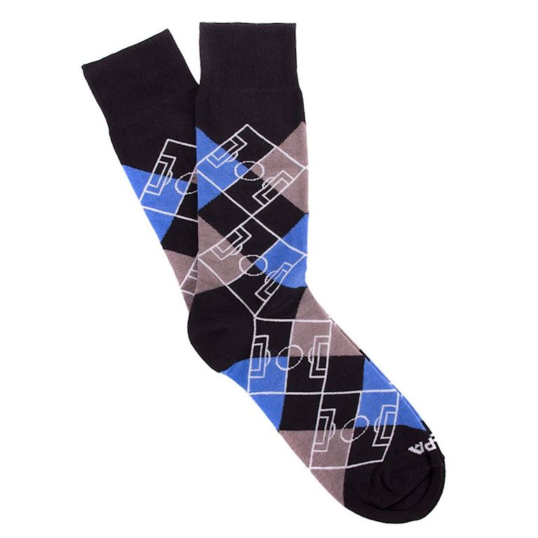 5104 | Argyle Pitch Socks | Black - Grey - Blue - White | 1 | COPA