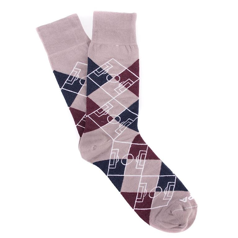 5103 | Argyle Pitch Socks | Grey - Navy Blue - Bordeaux - White | 1 | COPA