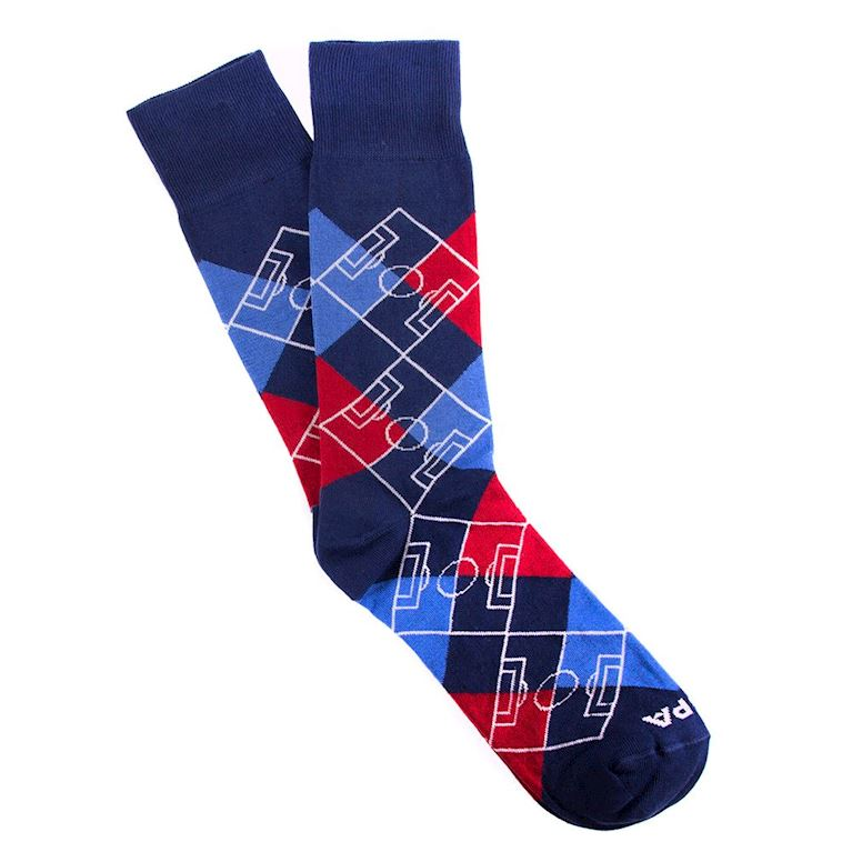 5101 | Argyle Pitch Socks | Navy Blue - Red - Blue - White | 1 | COPA