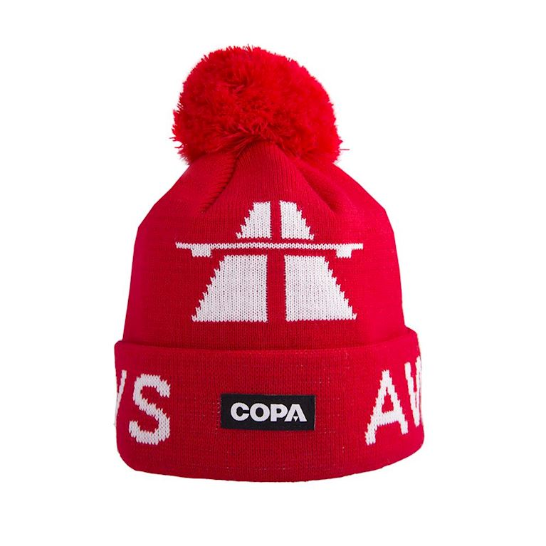 5011 | Away Days Beanie | Red-White | 1 | COPA
