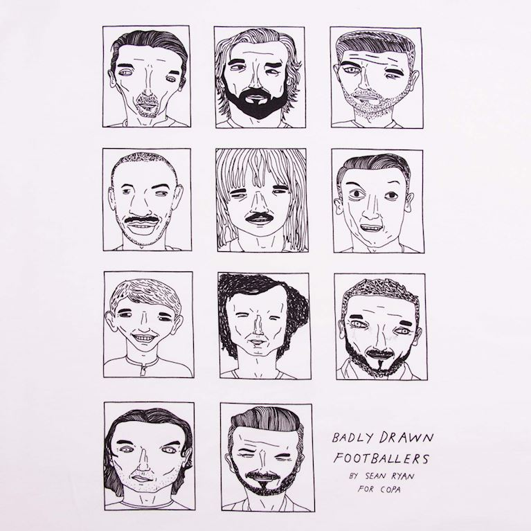 6778 | Badly Drawn Footballers T-Shirt | 2 | COPA