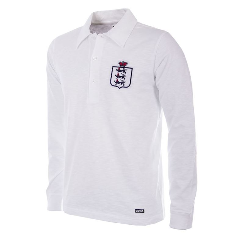 218 | England 1930 - 35 Long Sleeve Retro Football Shirt | 1 | COPA