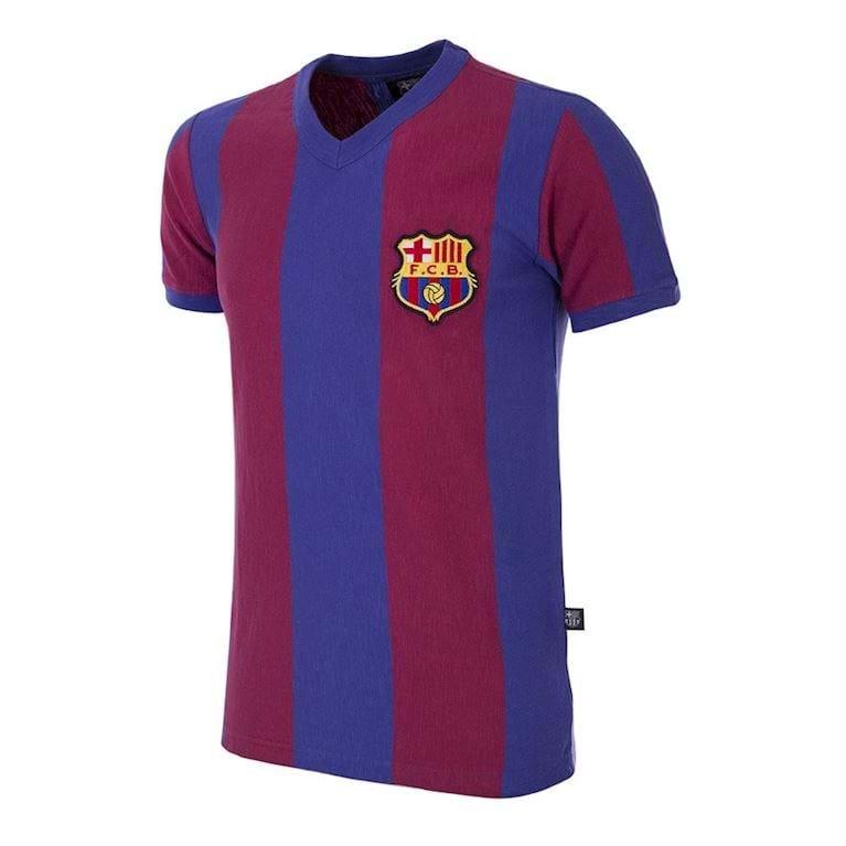 725   FC Barcelona 1955 - 56 Retro Football Shirt   1   COPA