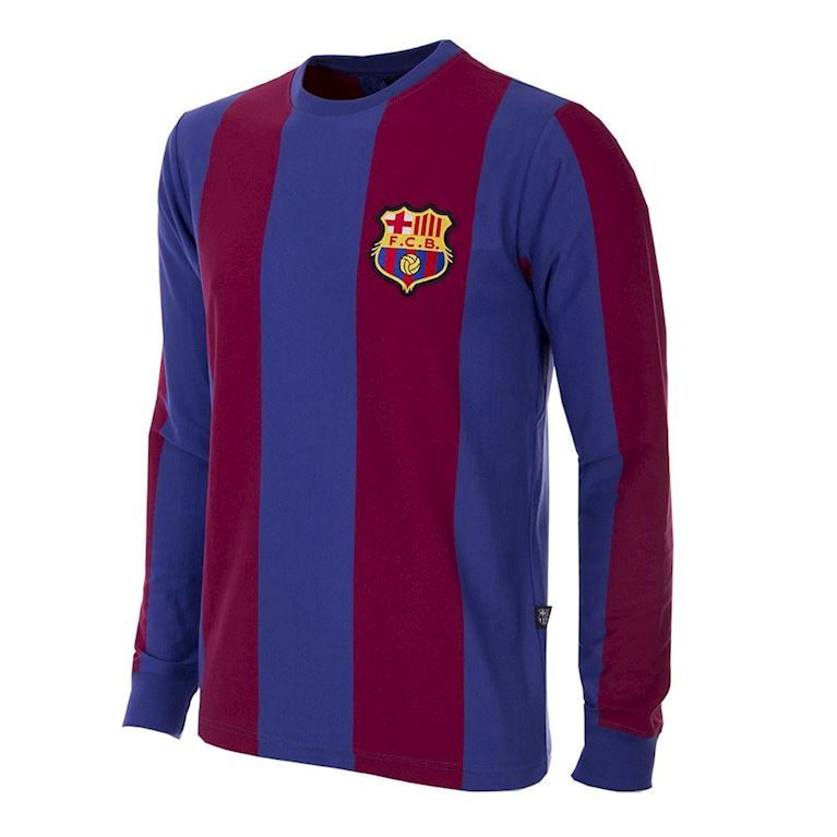 724 | FC Barcelona 1973 - 74 Long Sleeve Retro Football Shirt | 1 | COPA