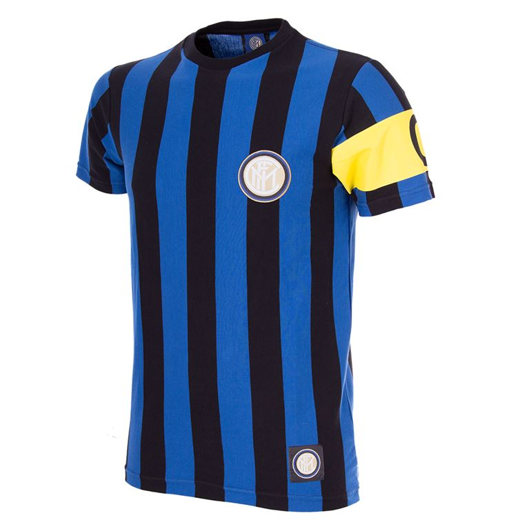 6722 | FC Internazionale Captain T-Shirt | Black - Blue | 1 | COPA