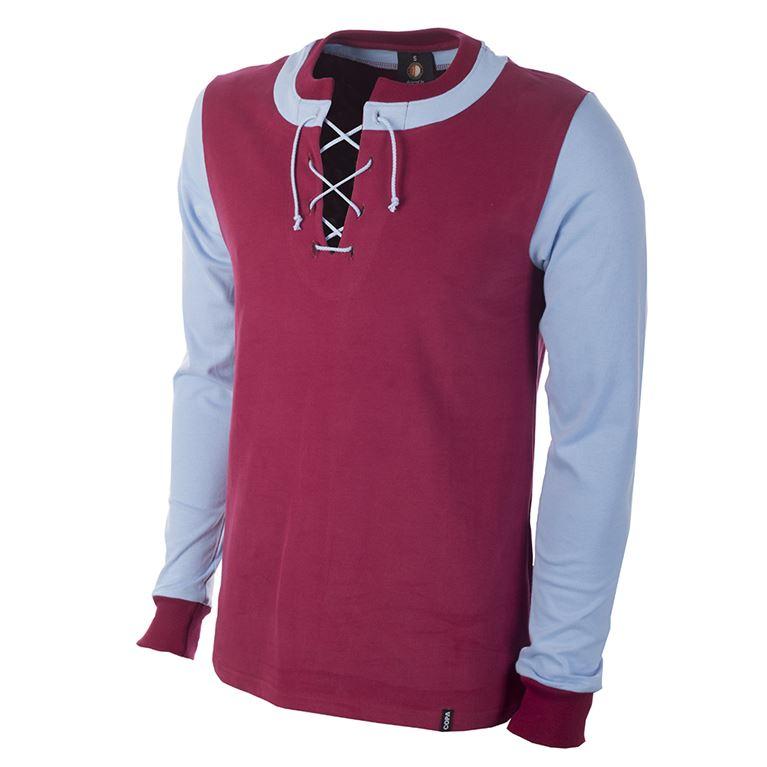 1241 | Feyenoord 1908 Long Sleeve Retro Football Shirt | 1 | COPA