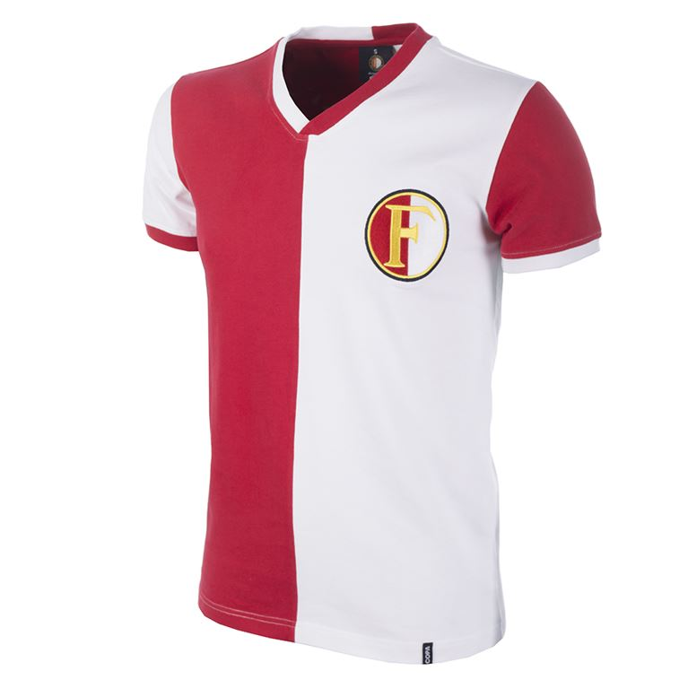 1244 | Feyenoord 1960's Short Sleeve Retro Football Shirt | 1 | COPA