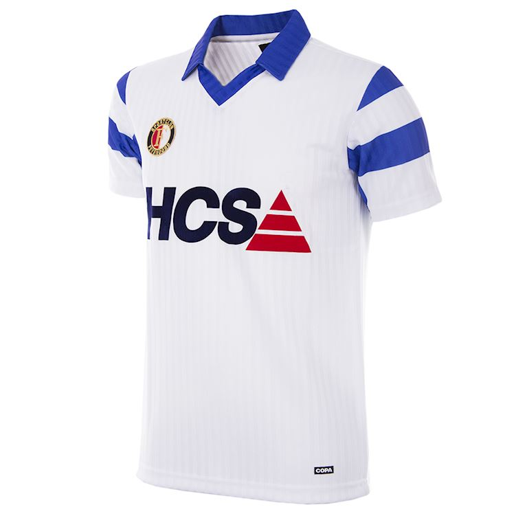 1256 | Feyenoord 1990 - 91 Away Retro Shirt | 1 | COPA