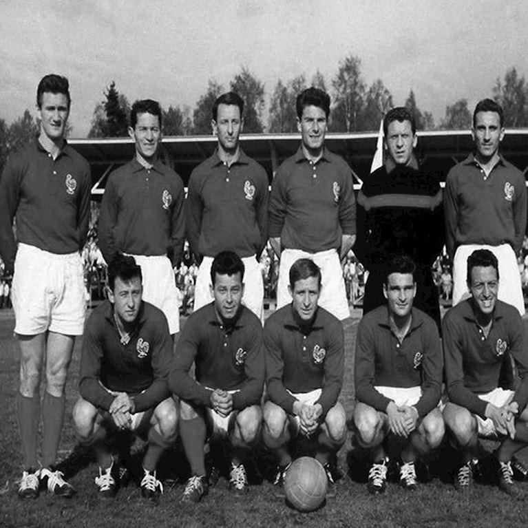 652 | Frankrijk 1950's Retro Voetbal Shirt | 2 | COPA
