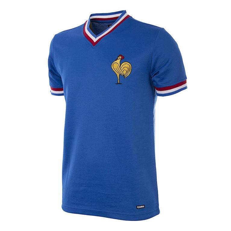 220 | France 1971 Short Sleeve Retro Football Shirt | 1 | COPA