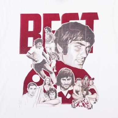 6766 | George Best Collage T-Shirt | 2 | COPA