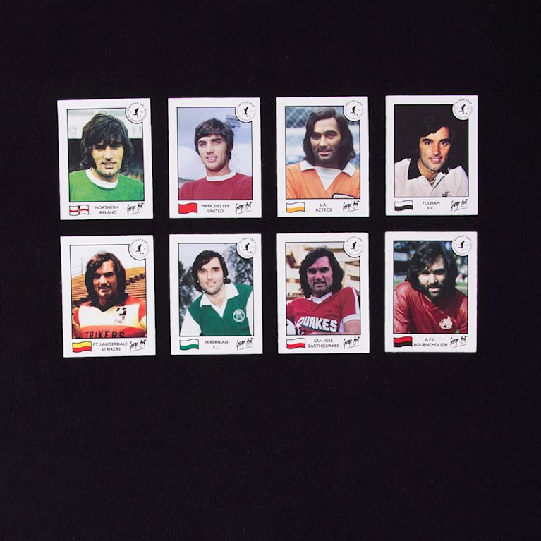 6772 | George Best Football Cards T-Shirt | 2 | COPA