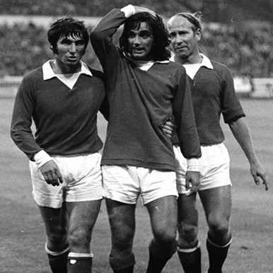 750 | George Best Man. Utd. 1970´s Retro Football Shirt | 2 | COPA