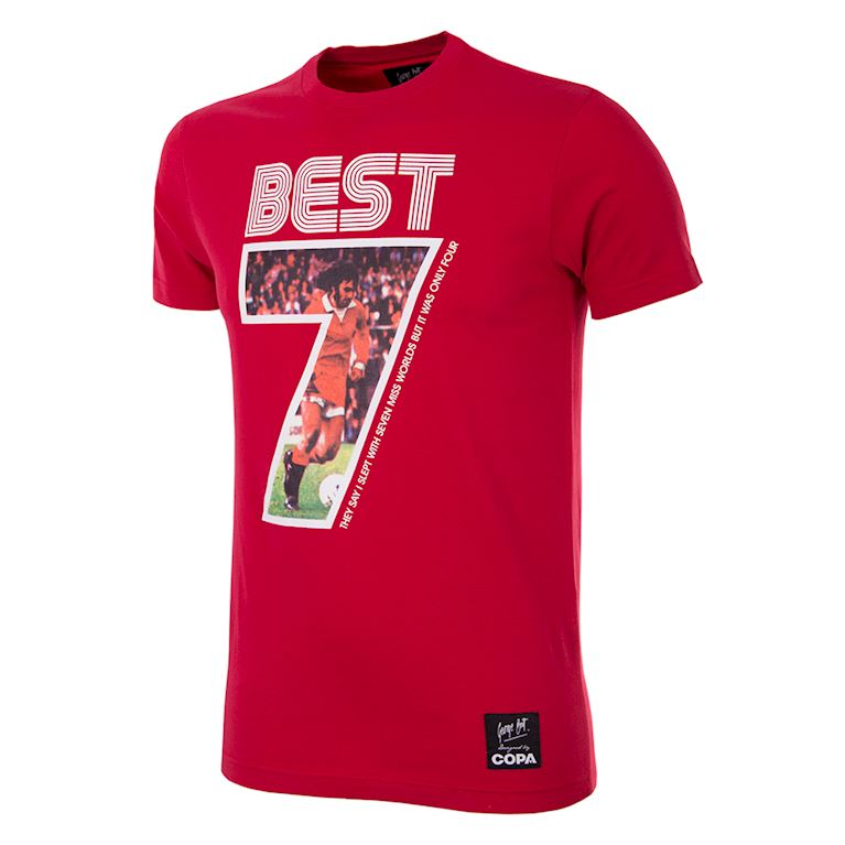 6753 | George Best Miss World V-Neck T-Shirt | 1 | COPA