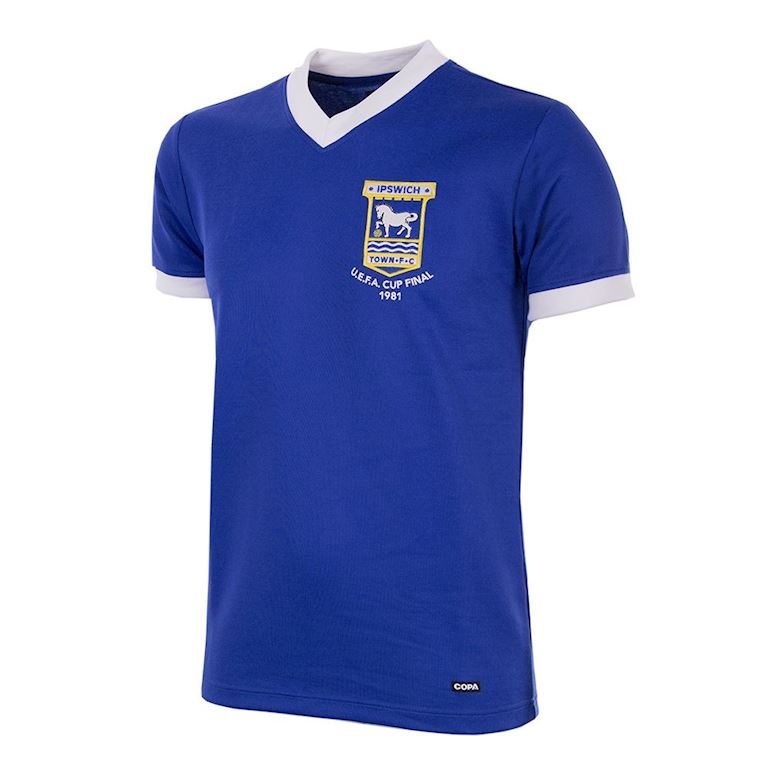 129 | Ipswich Town FC 1980 - 81 Short Sleeve Retro Football Shirt | 1 | COPA